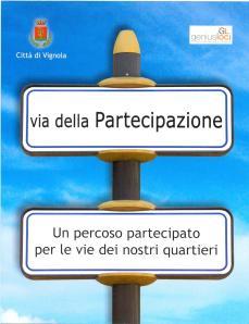 """Cartolina di pubblicizzazione del progetto """"Via della partecipazione"""""""