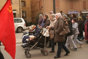 Manifestazione per il diritto alla casa, a Vignola (foto del 2 marzo 2013)