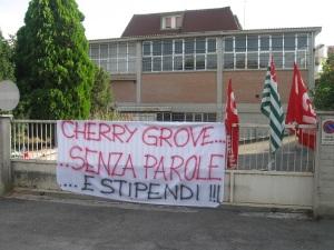 La ditta Cherry Grove a Brodano, una delle prime ad essere colpita dalla crisi economica (foto del 22 luglio 2009)