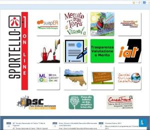 Home page del sito web del comune di Vignola: nessuna informazione sui pagamenti della TARES! (accesso di oggi 31 luglio, ore 21)