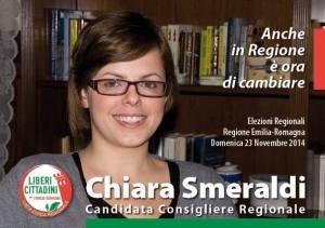 """Chiara Smeraldi candidata con la lista civica regionale """"Liberi cittadini""""."""