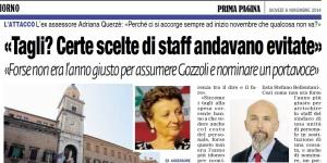 """Un """"ritaglio"""" dall'articolo di Prima Pagina, 6 novembre 2014."""