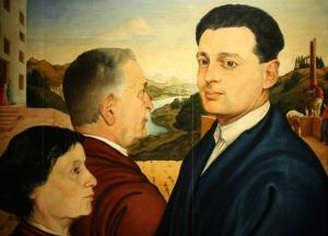 Leonardo Castellani, Ritratto di famiglia, 1925 (Arte dal vero. Aspetti della figurazione in Romagna dal 1900 a oggi, Imola - foto del 26 dicembre 2014)