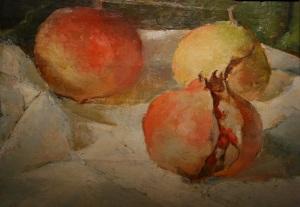 Serafino Campi, Melagrane, 1929 (Arte dal vero. Aspetti della figurazione in Romagna dal 1900 a oggi, Imola - foto del 26 dicembre 2014)