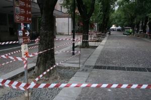 Lavori di manutenzione in viale Mazzini (foto del 20 giugno 2015)